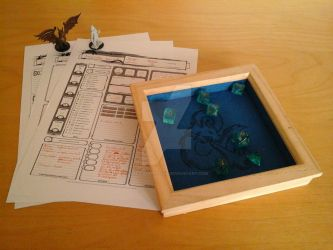 Selfmade dice tray by the-cavern-gied