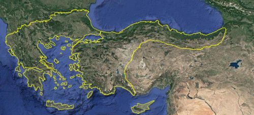 Google Earth Greater Greece Hellas Map by Hellenicfighter