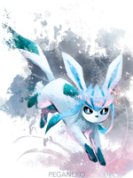 Glaceon - sketch by PegaNeko