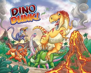 Dino Dunk Box Cover by marimoreno