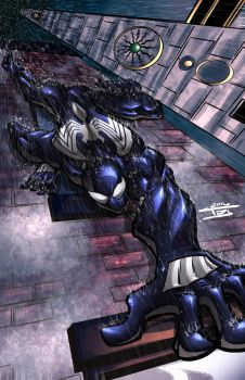 Symbiote Spidey colors by ArtOfTDJ