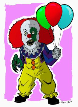 PENNYWISE THE DANCING CLOWN by sergioriosart