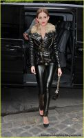Emma Watson Leathers up against the cold by Andylatex