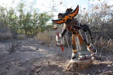 Snake Kachina with Rattlesnake by BigBearsArtStudio