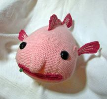 Giant Amigurumi Blobfish by TheSeaKnight