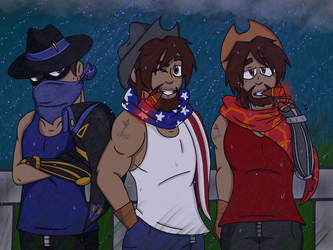 Cowboy Storm (Commission) by YaoiLover113