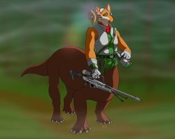 Saurian Warrior - Fox McCloud Request by dragonheart07