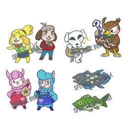 New Leaf Stickers Set One by SpencerBingham