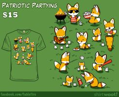 Woot Shirt: Patriotic Partying by fablefire