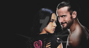 WWE AJ Lee and CM Punk - Header / Banner by taylorpittswwe