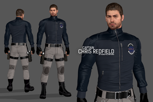 Captain Chris Redfield (Fan Made Model) by FearEffectInferno