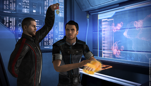 Mistletoe: Shepard and Kaidan by Forever-in-a-Day