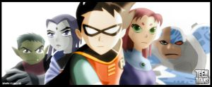 Teen Titans Unite by SparkyX
