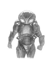 Black Manta (Aquaman) Sketch by SoulStryder210