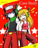 Cave Story - Quote and CurlyBrace by Lady2011