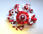 Candy Cane Brooch by RibbonsandClay