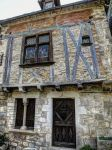 St Cirq Lapopie 03 - Medieval house by HermitCrabStock
