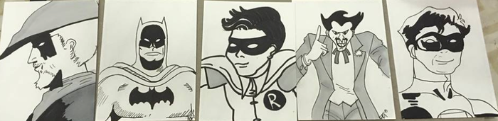 DC Sketchcards by EmiryFace