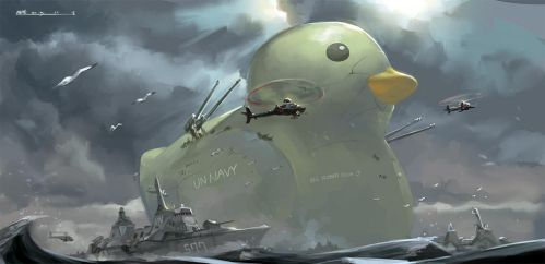 BIG RUBBER DUCK by tommy830219