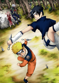 Naruto vs Sasuke by torosaamon