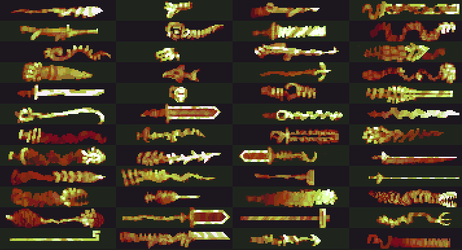 Pixeled a few weapons by Cellusious