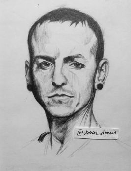 RIP Chester Bennington. 20-03-1976 - 20-07-2017. by usman-draws