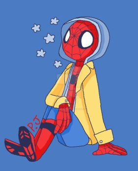 Homecoming spidey by Blueartistxx