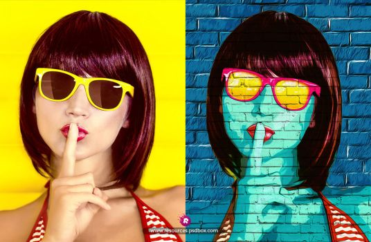 Pop art Free Photoshop Effect PSD by Andrei-Oprinca