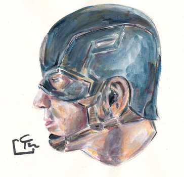 Captain America - Quick Painting by HeroFromMars