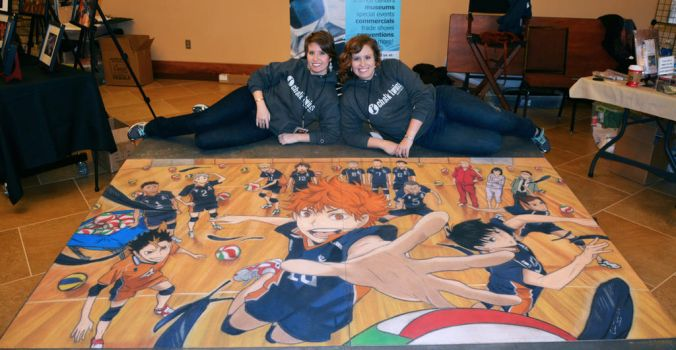 Haikyuu!! and Artists by ChalkTwins