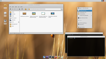Fundamental Round for XFCE by p0ngbr