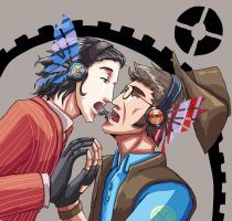 TF2 Gabry and Liam,magnet. by seueneneye