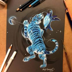 Moon Tiger Star Penguin by Lucky978