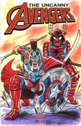 Captain America and Spider-Man Sketch Cover by timshinn73