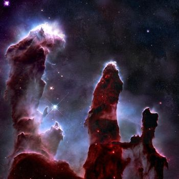 Eagle nebula by antiparticle