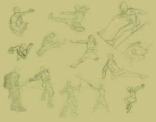 Life Drawing - Action Poses by kristaia