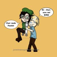 Pewdiepie And Mr. Chair by JunMinseung
