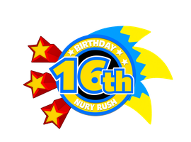 16th Birthday NuryRush Logo by NuryRush