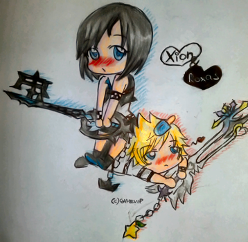 Xion and Roxas chibi by GameVip