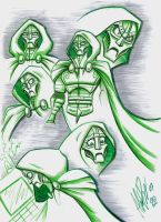 Victor Von Doom sketches by Dracunnum