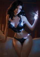 Yennefer Pin-up - Animated Version by TimTaller