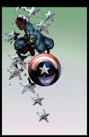 Captain America coloring by GreeneLantern