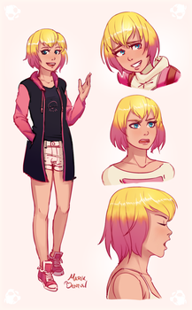 Gwenpool Sketches by MarikBentusi