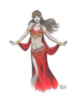 DRAGON*CON 2015 SKETCH: Belly Dancing Arwen by Shono