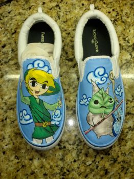 Wind Waker Custom Shoes by Acrylicolt