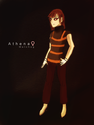 Athena the Watchog Gijinka by Friggin-Artwork
