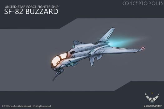 SF-82-Buzzard color by Conceptopolis