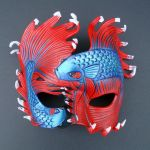 Fighting Bettas...leather mask by merimask