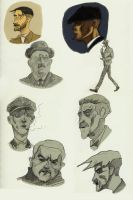 Peaky Blinders faces by Karangond