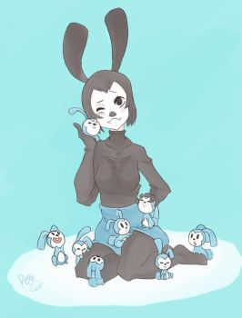 Oswald The Lucky Rabbit by Penpaii